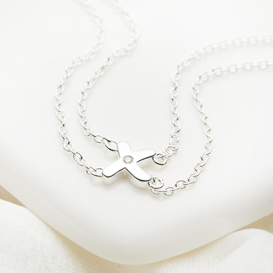 My First Diamond Kiss Necklace